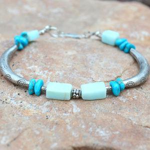 Sleeping Beauty Turquoise Sterling Silver Bracelet